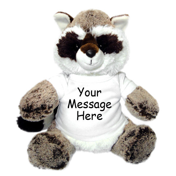 Personalized Stuffed Raccoon - Aurora Plush, 12""