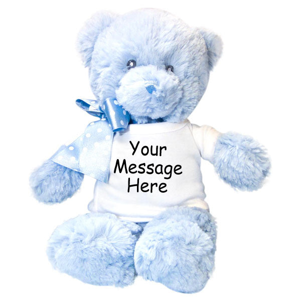 Personalized Teddy Bear - Aurora Blue Baby Bear, 12""
