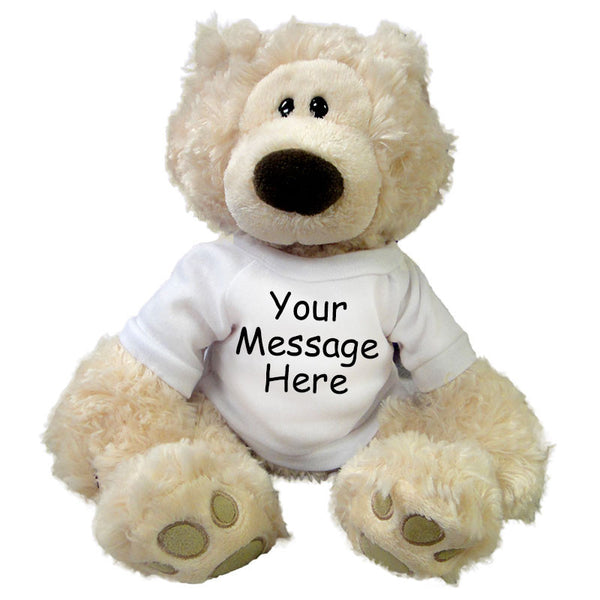 Personalized Teddy Bear - 12 inch Gund Philbin Bear, Beige
