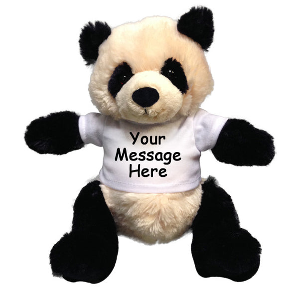 Personalized Stuffed Panda - 10 inch Gund Small Baby ZiBo Panda