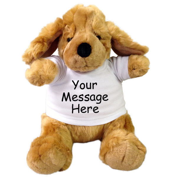 Personalized Stuffed Dog - 9 inch Golden Plumpee Puppy