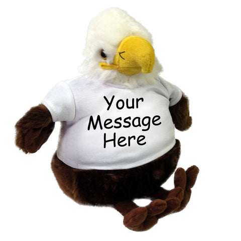 Personalized Stuffed Eagle - 9 inch Plumpee Eagle