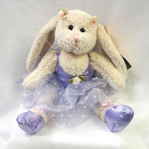 "7"" Stuffed Ballerina Bunny - Purple"