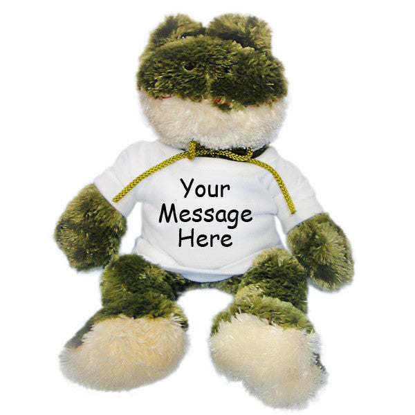 Personalized Stuffed Frog - 12""