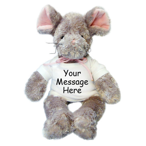 Personalized Stuffed Mouse - 12""
