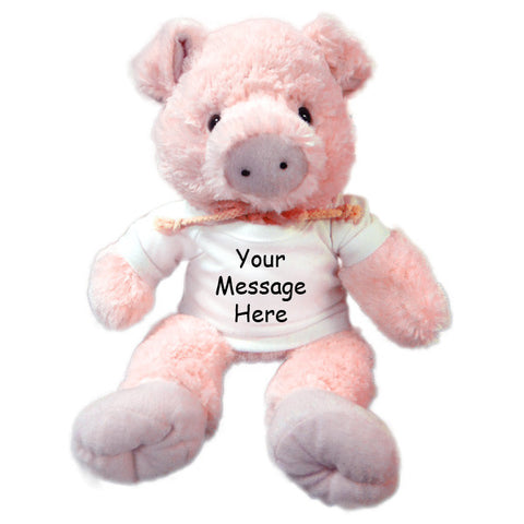 Personalized Stuffed Pig - 12 inch Unipak Plush