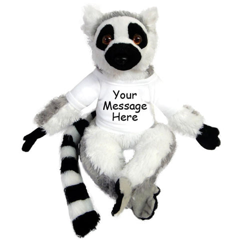 Personalized Stuffed Lemur / Monkey - 12 inch Wild Republic Ring Tailed Lemur