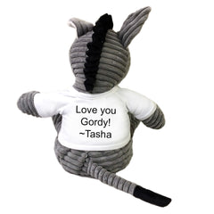 Personalized Smart Ass Plush Donkey Humor Gift - Back
