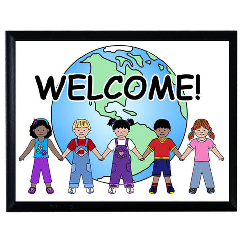 Multicultural Kids Welcome Sign