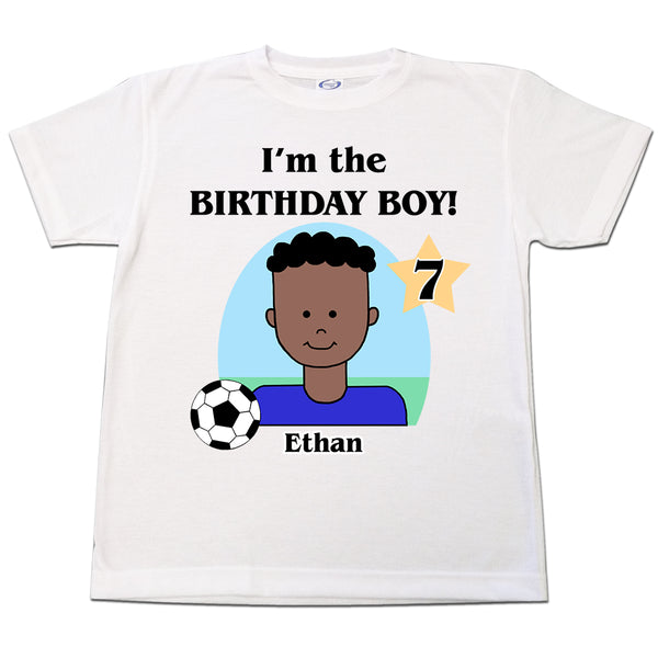 Soccer Kid Personalized Birthday T Shirt - Boy