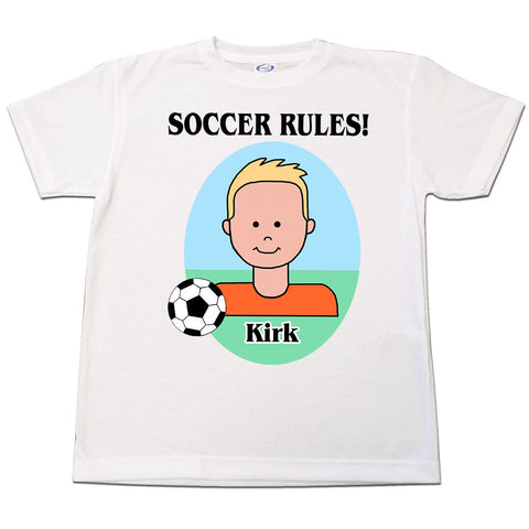 Personalized Soccer T-Shirt - Boy