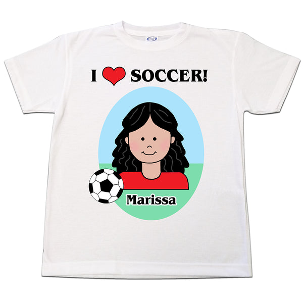 Soccer Kid Personalized T Shirt for Girls