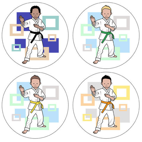 Martial Arts or Karate Kid Stickers - Boy