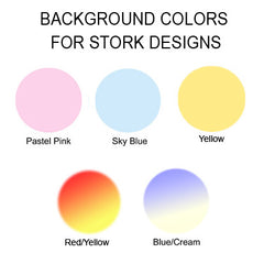 Examples of background colors for adoption storks