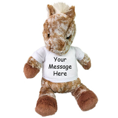 "Personalized Stuffed Horse - 11"" Aurora Plush Gallop Horse"