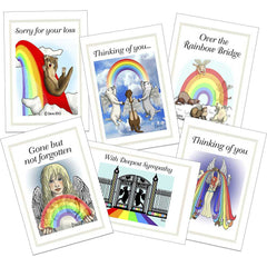 Ferret Rainbow Bridge Sympathy Card Multipack