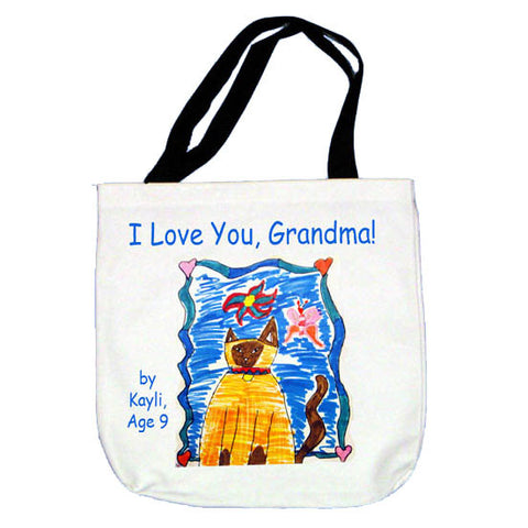 Tote Bag featuring your child's art