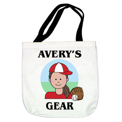 Baseball Kid Tote Bag - Girl