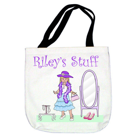 Dress Up Girl Tote Bag