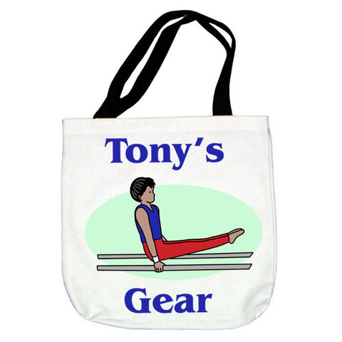Gymnastics Tote Bag - Boy on Bars Design