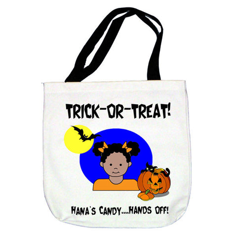 Trick or Treat Tote Bag - Girl