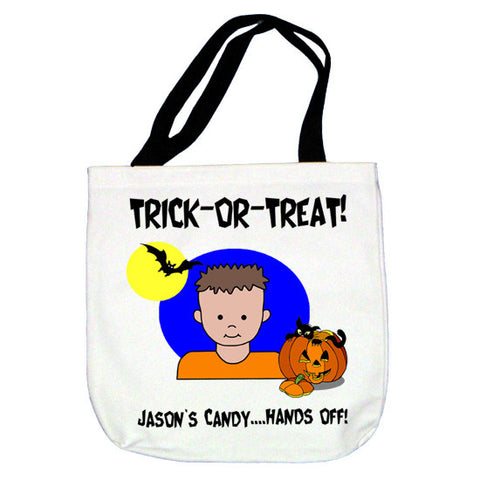 Trick or Treat Tote Bag - Boy