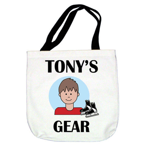 Hockey Kid Tote Bag