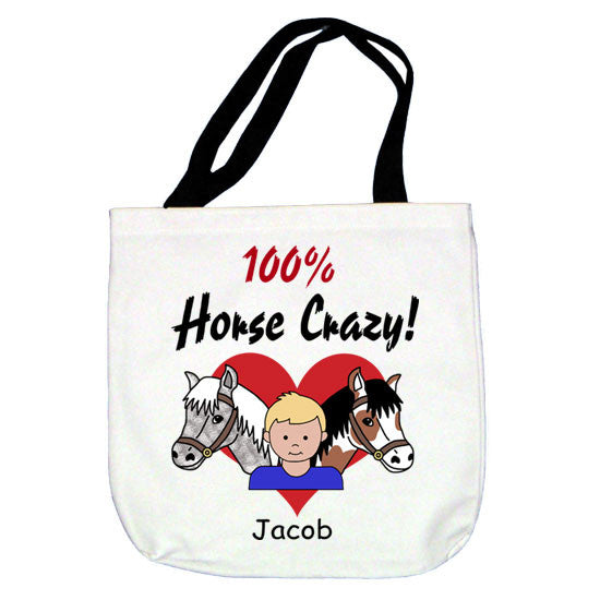 Horse Crazy Tote Bag - Boy