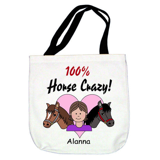 Horse Crazy Tote Bag - Girl