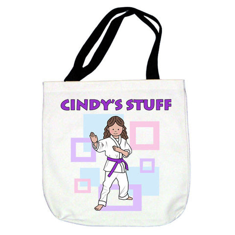 Martial Arts or Karate Kid Tote Bag - Girl