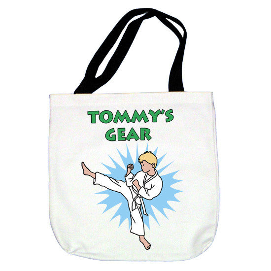 Karate or Martial Arts Boy Tote Bag - Kick Design