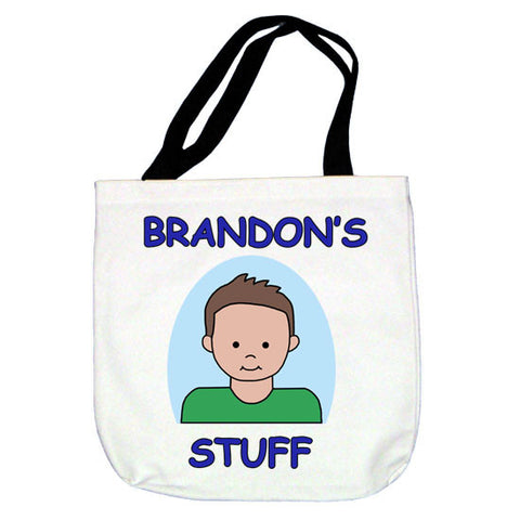 Cartoon Kids Personalized Tote Bag - Boy