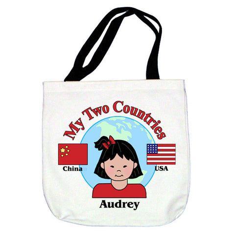 My Two Countries Tote Bag - Girl