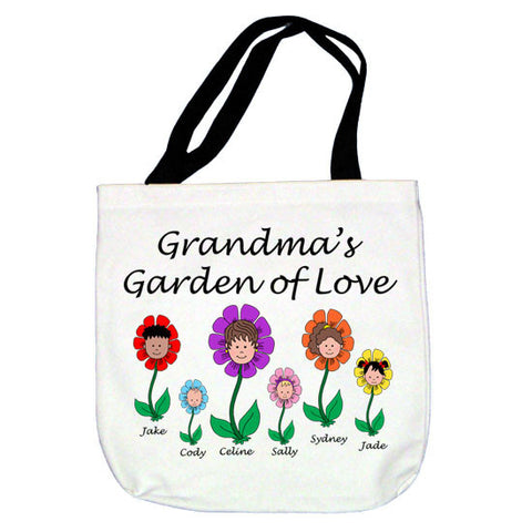 Cartoon Family Garden of Love Tote Bag   - up to 6 people