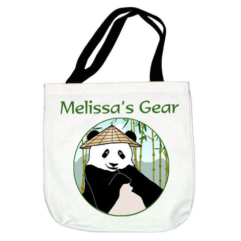 Panda with Cone Hat Tote Bag