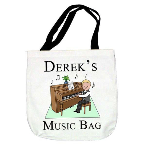 Piano Recital Boy Tote Bag