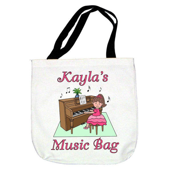 Piano Recital Girl Tote Bag