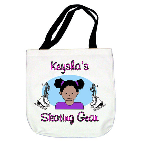 Ice Skating Girl Tote Bag