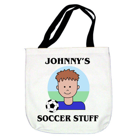 Soccer Kid Tote Bag - Boy