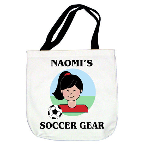 Soccer Kid Tote Bag - Girl