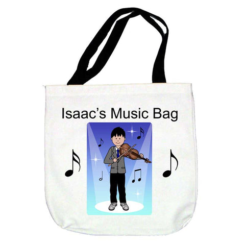 Violin Recital Boy Tote Bag