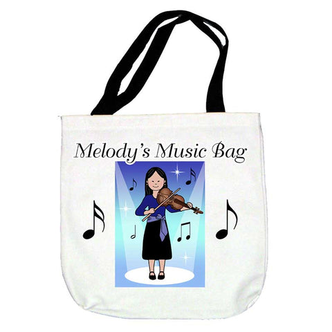Violin Recital Girl Tote Bag