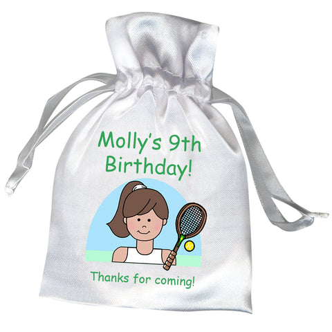 Tennis Girl Birthday Party Favor Bag