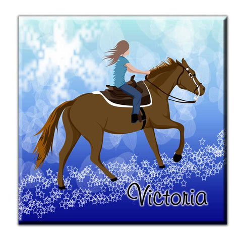 Horse Dreams Decorative Ceramic Art Tile