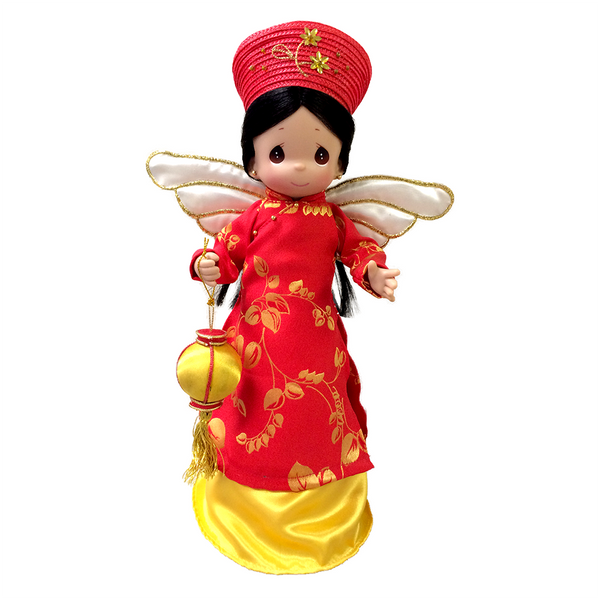 Precious Moments Vietnamese Asian Treetop Angel - Christmas Treetopper