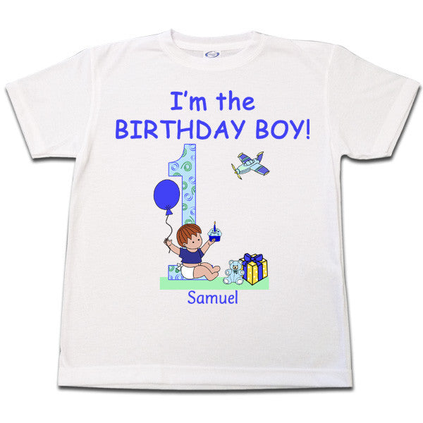 935c0b80bfa8 Babys 1st Birthday T Shirt for Boy Personalized – Mandys Moon ...