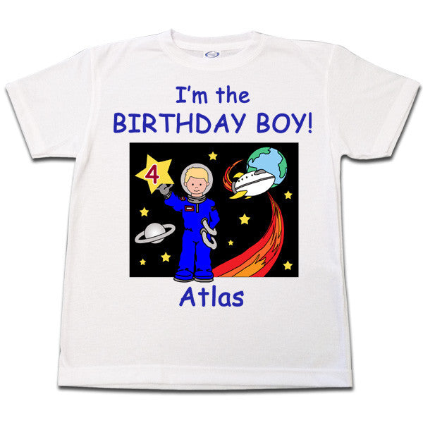 Outer Space Birthday Shirt