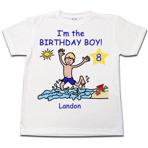 Beach Party Birthday T-Shirt - Boy