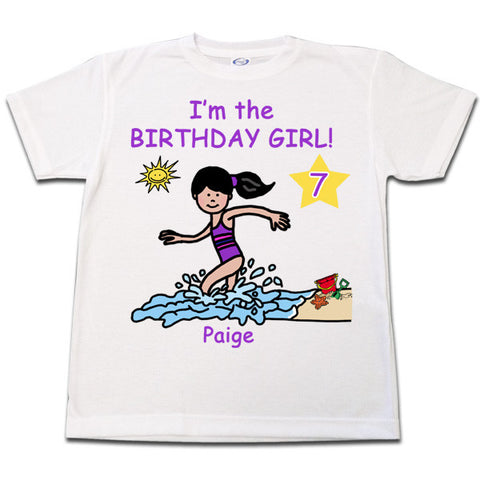 Beach Party Birthday T-Shirt - Girl
