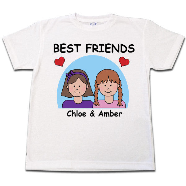 09ad6f0f Best Friends BFF T Shirt Personalized – Mandys Moon Personalized Gifts